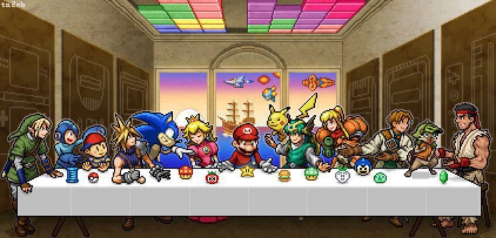 the-great-supper-game-mascots-nintendo-mario-sonic-capcom